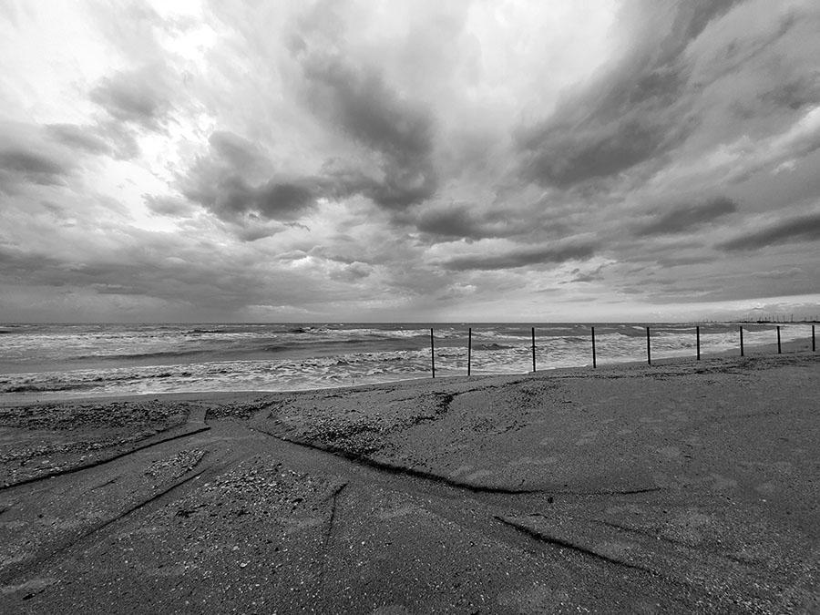 Азовское море, штормящее.